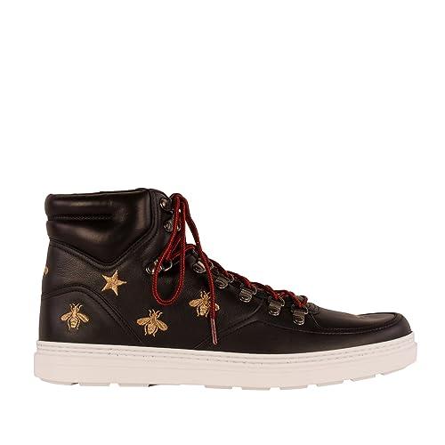 tienda de liquidación 92b43 2f964 Gucci Hombre 429435AXWS01000 Negro Cuero Botines: Amazon.es ...