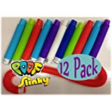 POOF-Slinky Pop Toobs Bundle of 12 - Assorted Colors