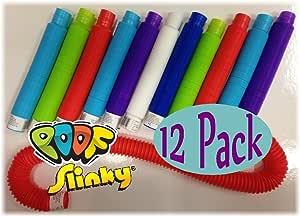 Pop Toobs Poof-Slinky Bundle of 12 - Assorted Colors