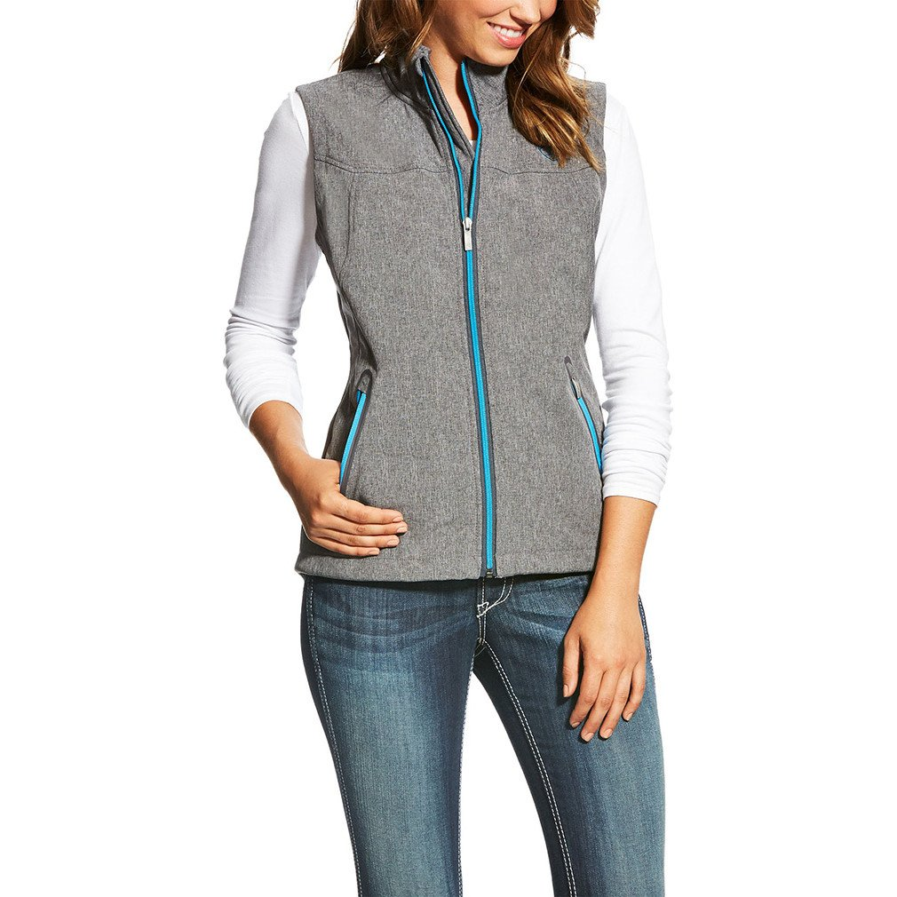 Ariat Women's Team Softshell Vest Charcoal Small