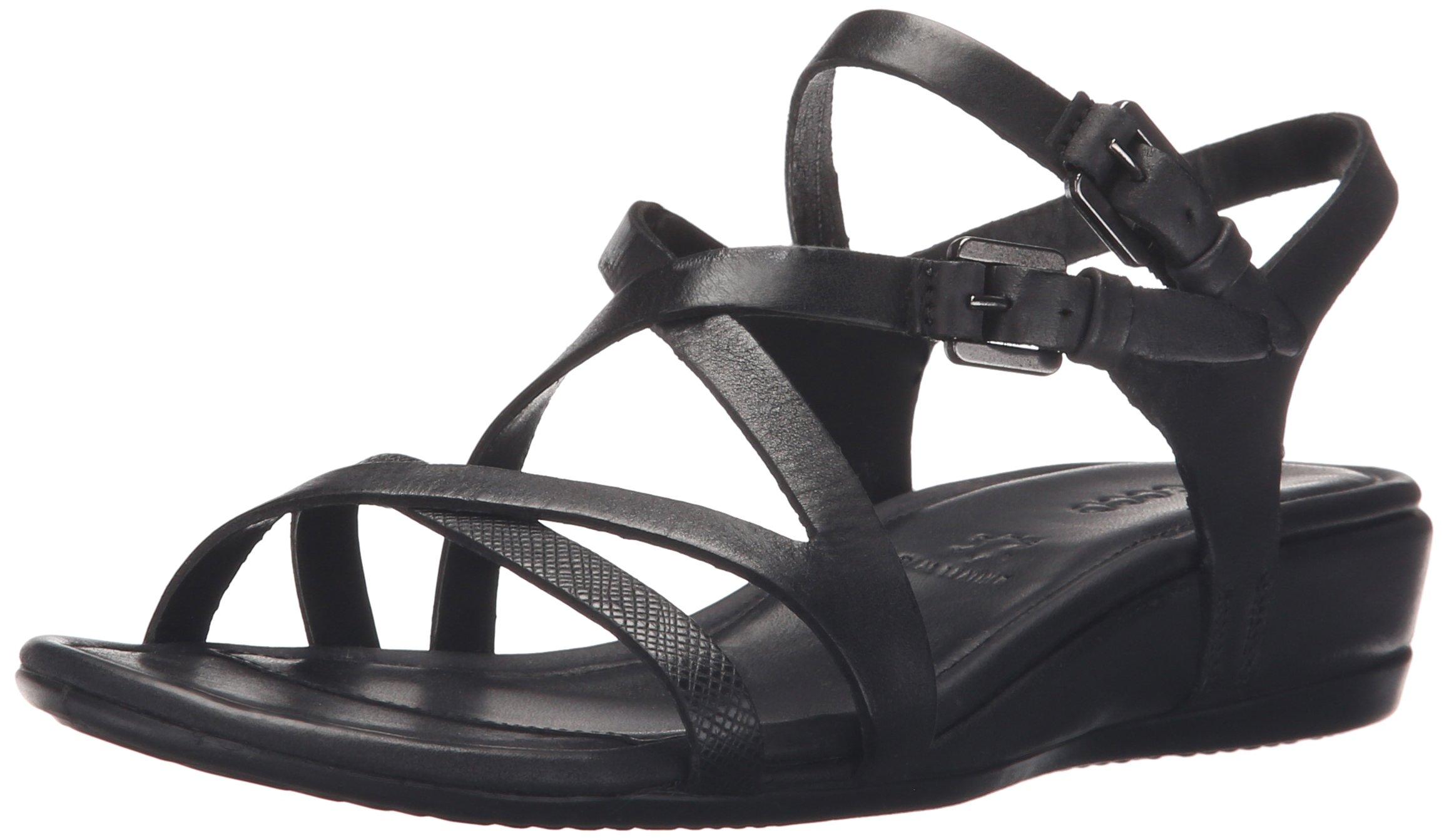 Ecco Footwear Womens Touch 25 Strap Sandal Dress Sandal, Black/Black, 41 EU/10-10.5 M US