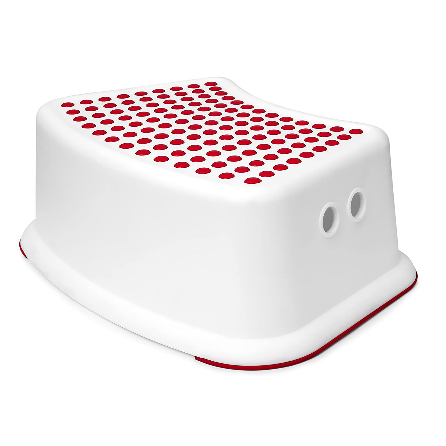 Girls Red Step Stool - Great For Potty Training, Bathroom, Bedroom, Toilet, Toy Room, Kitchen, and Living Room. Perfect For Your House TPS-1