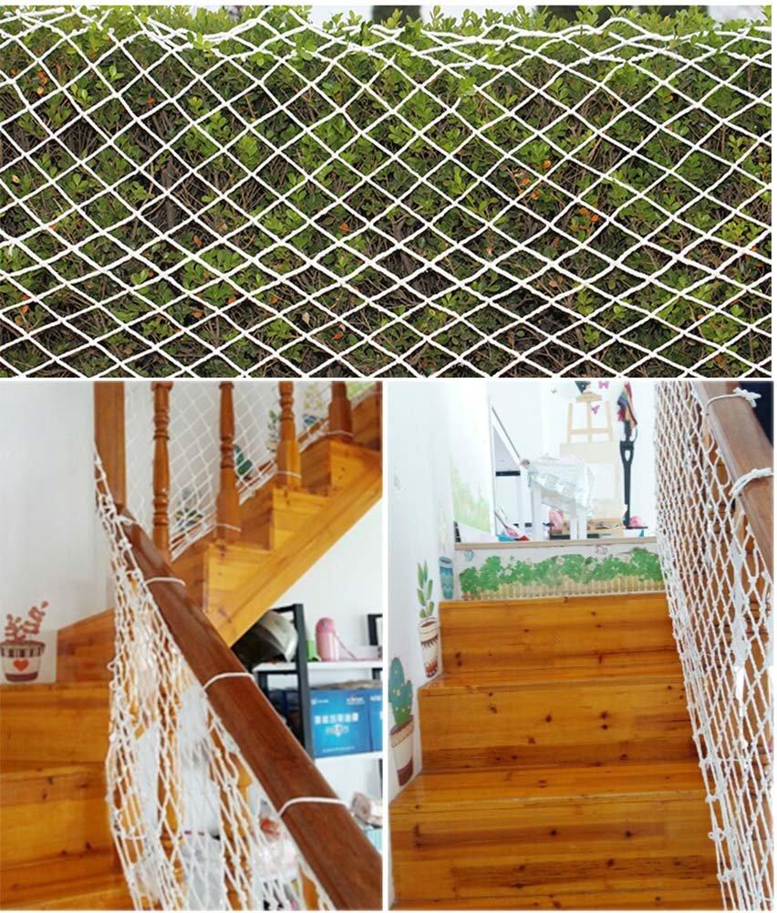 Kingt Red de Protección Válida para Múltiples Usos Ideal para Colocar en Balcones, Terrazas, Puertas, Ventanas o Escaleras Malla Tejida en Poliéster de Alta ...