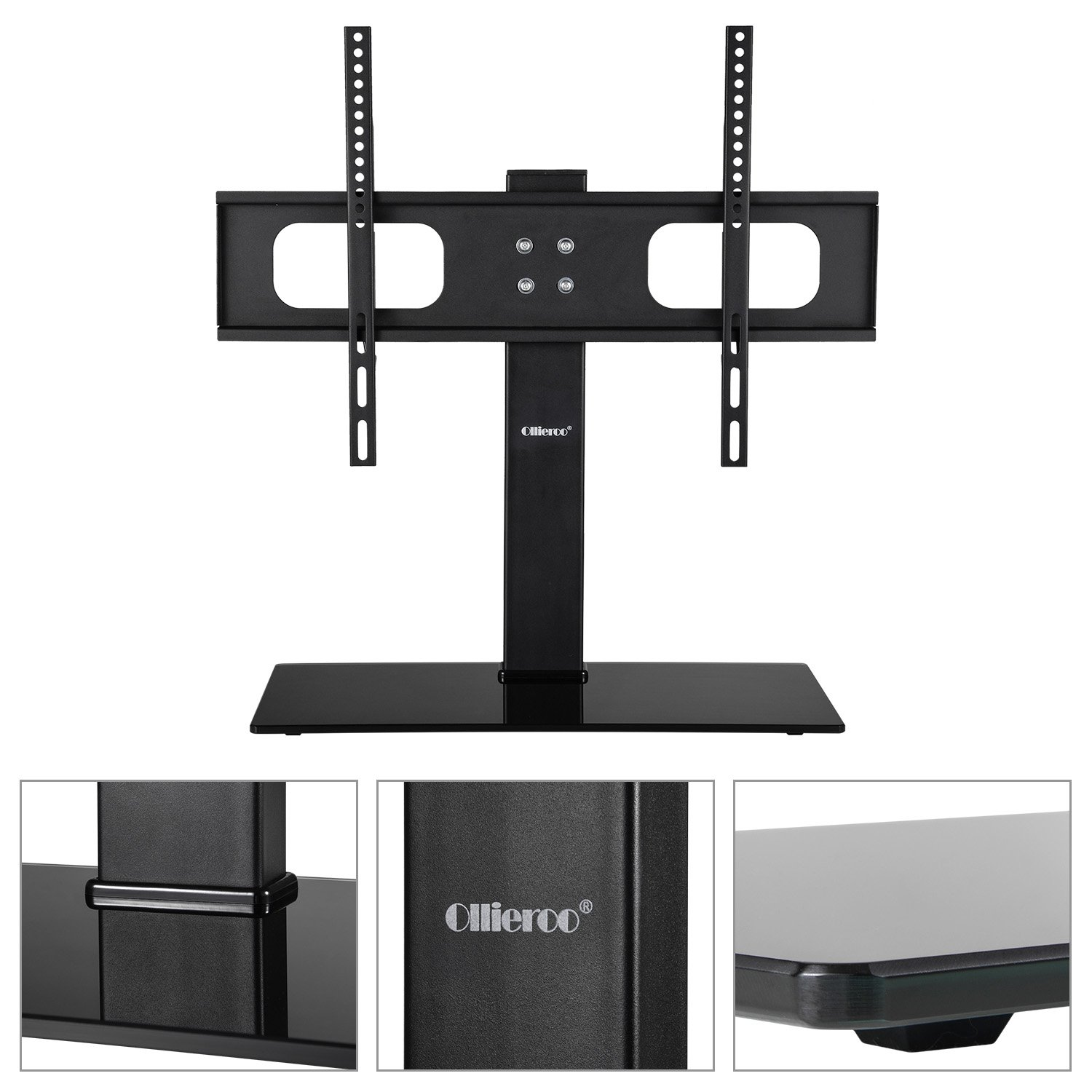 ollieroo table top tv stand for most 32 65 inch tvs. Black Bedroom Furniture Sets. Home Design Ideas