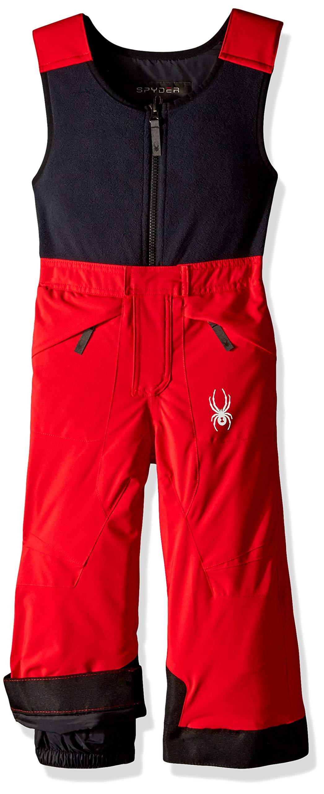 Spyder Boys' Mini Expedition Ski Pant, Red/Black/Black, Size 2
