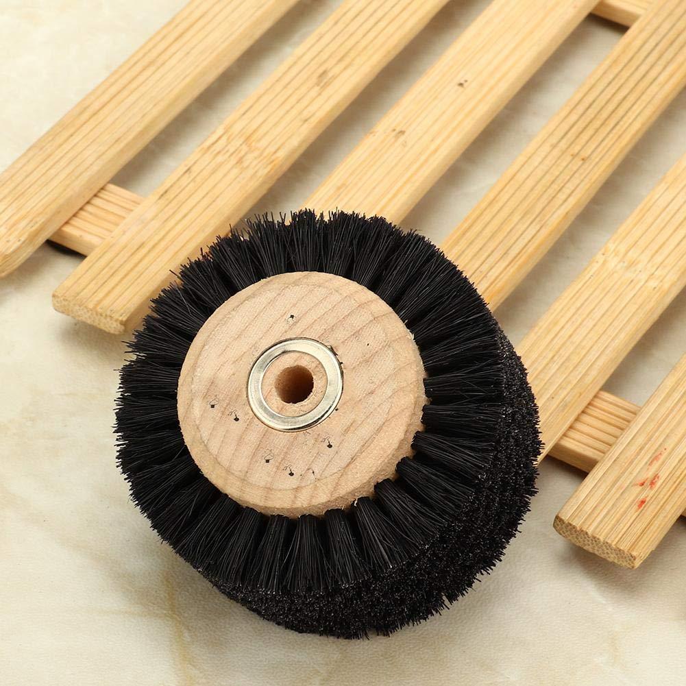 Salmue Cepillo abrasivo de la Rueda para pulir la m/áquina Herramienta de Pulido de la Madera Herramienta de Pulido Pulido Rueda Pulidora Cepillo