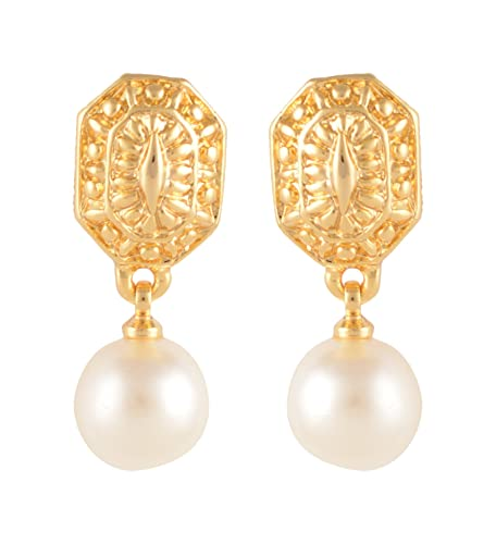 Buy Estelle Gold Plated Drop And Dangle Pearl Earring Set Earing In Golden Colour Ladies Women Tops Jewelry Simple Small Light Ethnic Fancy Party Daily Wear Girls Stylish New Latest Design Ear Rings Low Price Gift For,Designer Leather Boots