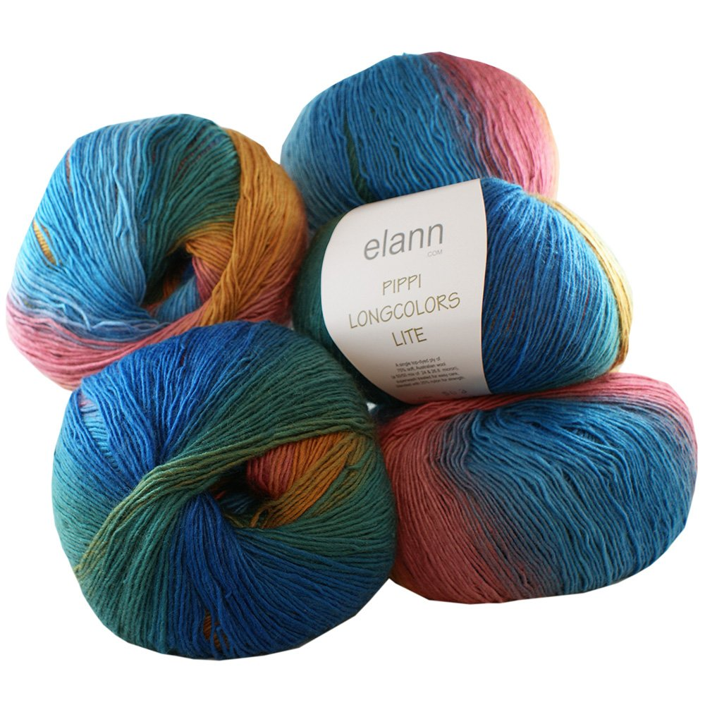 elann Pippi Longcolors Lite Yarn | 5 Ball Bag | 503 Provence