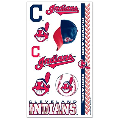 WinCraft MLB Cleveland Indians 14751012 Tattoos : Childrens Temporary Tattoos : Sports & Outdoors