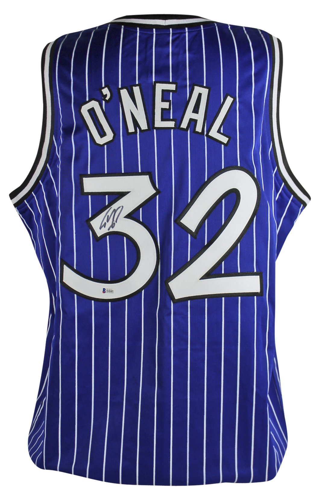 Magic Shaquille O'Neal Authentic Signed Blue Jersey Autographed BAS Witnessed