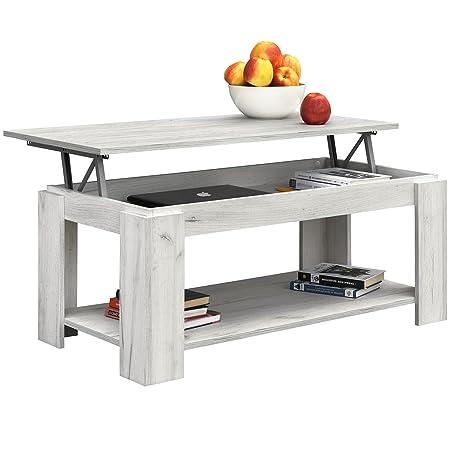 Tavolini Da Salotto Che Si Alzano.Comifort Tavolino Da Salotto Con Piano Sollevabile E Portariviste