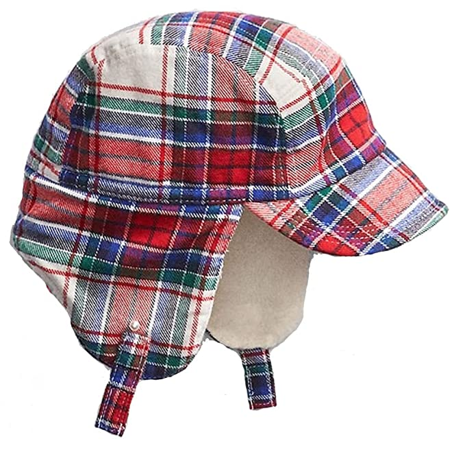 d544b99a09cf4 Image Unavailable. Image not available for. Color  BabyGap Boys Plaid Lined Trapper  Hat ...