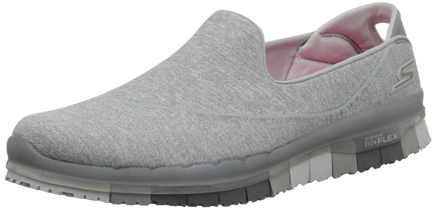 Skechers Damen Slipper Go Flex Walk Pink  36 EU|Grau (Gry)