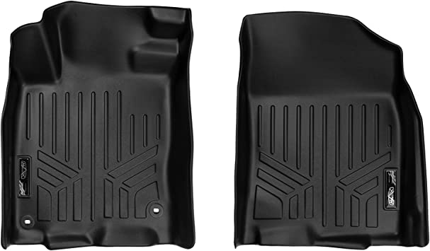 SMARTLINER Custom Fit Floor Mats 1st Row Liner Set Black for 2016-2019 Honda Civic Sedan or Hatchback