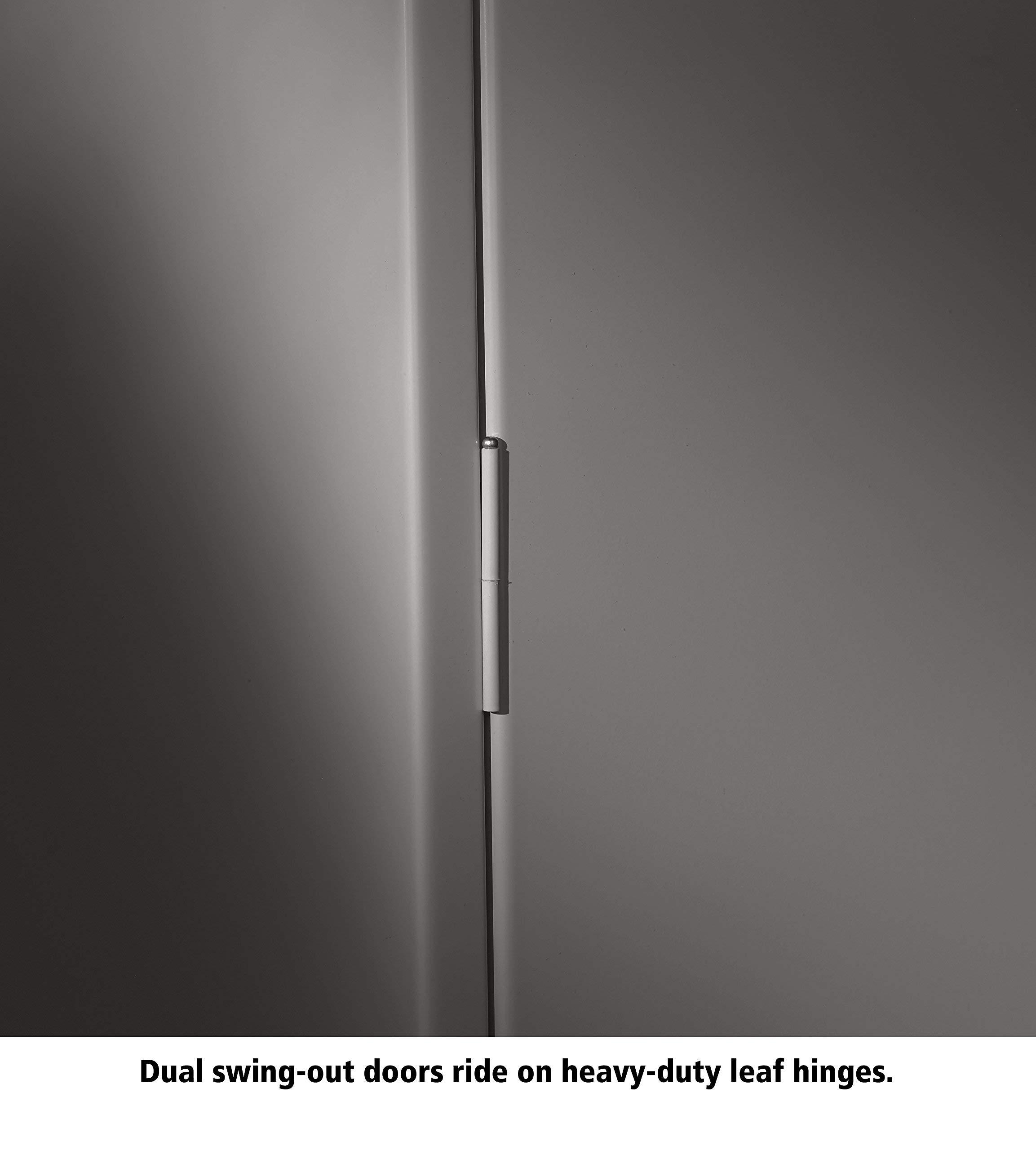 Tennsco 4218 24 Gauge Steel Standard Welded Counter High Cabinet, 2 Shelves, 150 lbs Capacity per Shelf, 36'' Width x 42'' Height x 18'' Depth, Black (Renewed) by Tennsco (Image #2)