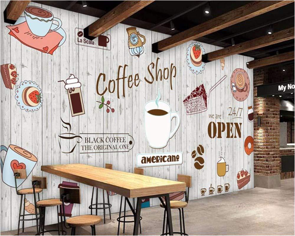 Weaeo 任意のサイズの壁紙の大きなカスタム壁紙壁3Dのためのヨーロッパとアメリカのコーヒーショップの壁紙-280X200Cm B07HCWV6B6 280X200CM 280X200CM