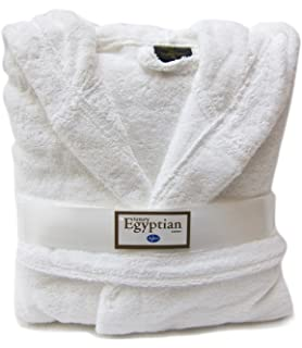 TowelsRus 100% Egyptian Cotton Shawl Collar Unisex Dressing Gown ...