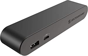 SCOSCHE BLPE-SP 30W Dual Port Power Endcap for BaseLynx Modular Charging Stations, Black