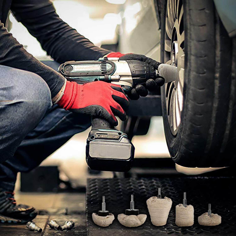 Zaeel Polishing Pad Rim Polishing Attachment Cordless Screwdriver Drill Machine