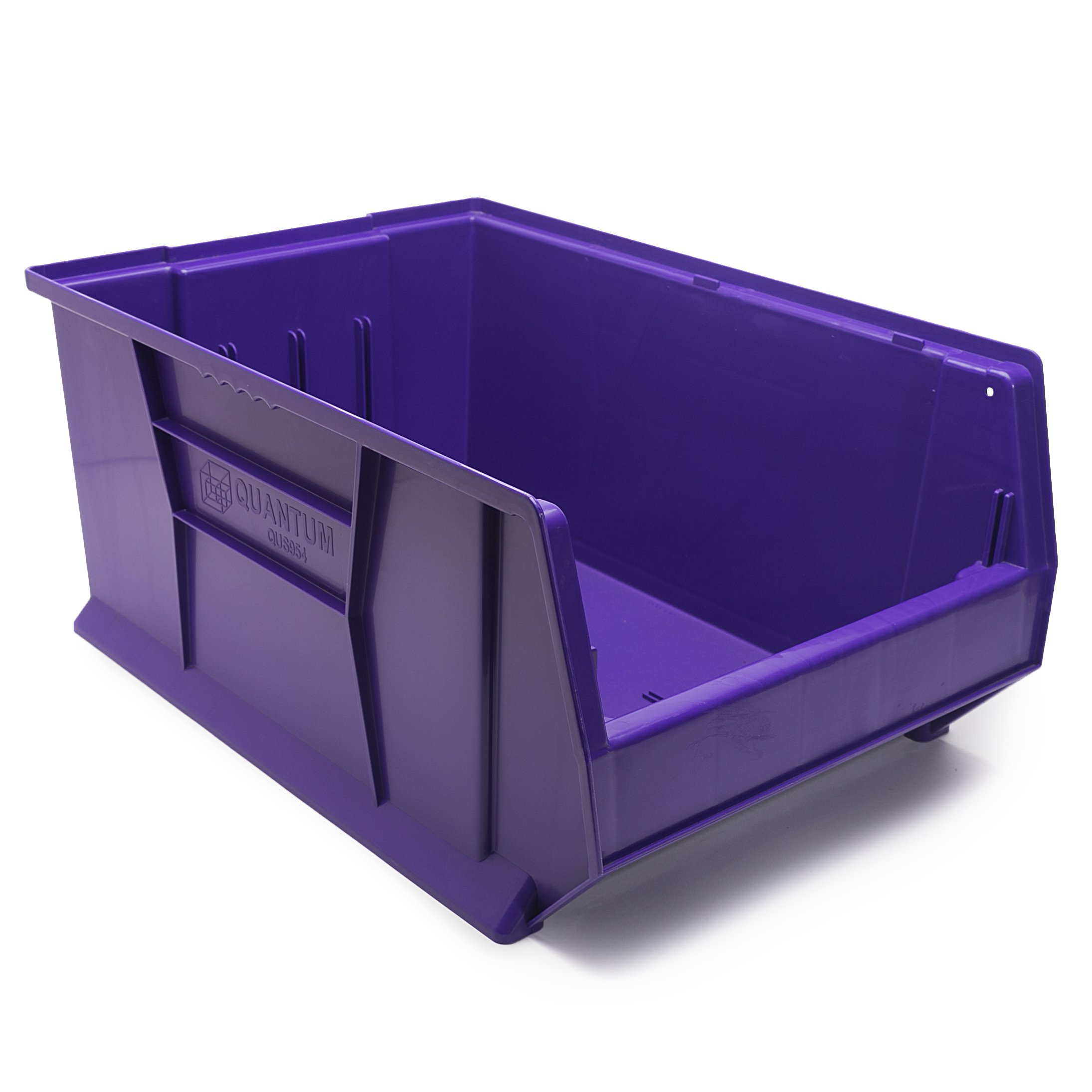 Yum Junkie Purple Plastic Storage Container - Stack and Lock Stacking Bins - Toy & Tool Industrial Storage Container