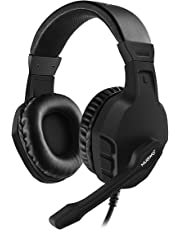 NUBWO Gaming PS4, U3 Stereo Wired Xbox One Headset mit Rauschunterdrückungsmikrofon, Over-Ear Kopfhörer mit Mute Kontrol für PC, Mac, Playstation 4, Xbox One, Android und iPhone- Black