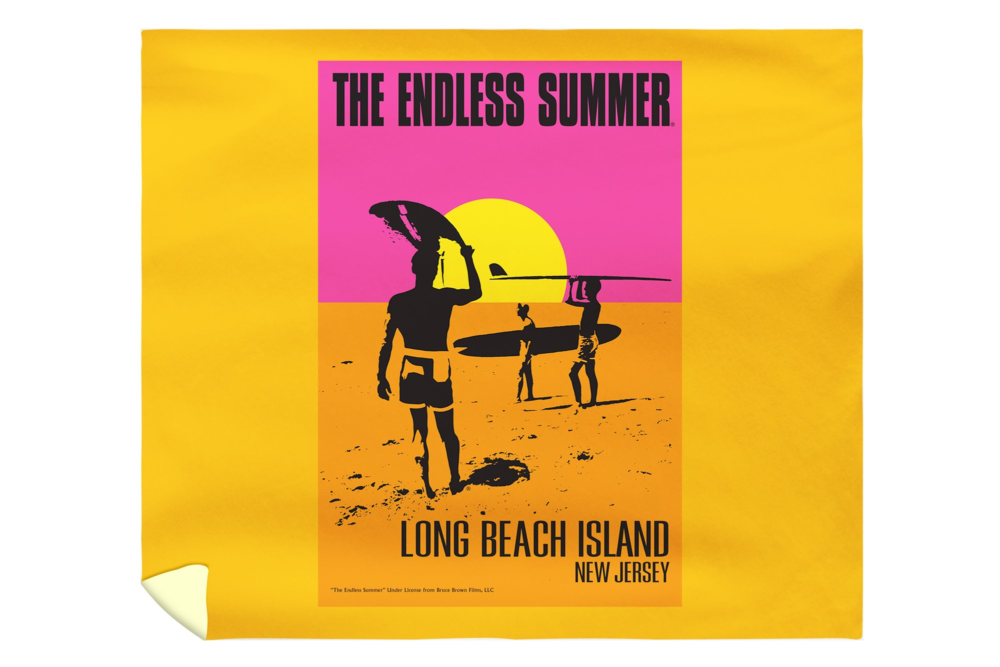 Long Beach Island, New Jersey - The Endless Summer - Original Movie Poster (88x104 King Microfiber Duvet Cover)