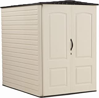 product image for Rubbermaid Large Vertical Resin Weather Resistant Outdoor Garden Storage Shed, 5x6 Feet, Sandstone