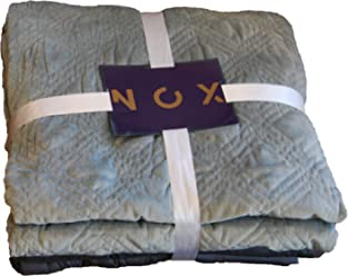 Nox Weighted Blanket | Includes 2 Covers: Soft Minky and Cooling Bamboo Cotton | Therapy