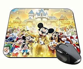 Disney Personajes Characters A Alfombrilla Mousepad PC: Amazon.es: Oficina y papelería