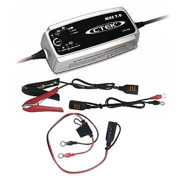 Ctek MXS 7.0 batería Cargador + anillo Cable 1,5 m 31800108