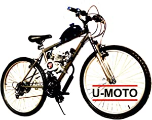 "Cyclone Complete 2-Stroke 66cc/80cc Motorized Bike KIT with 26"" 18-Speed MT Bike"