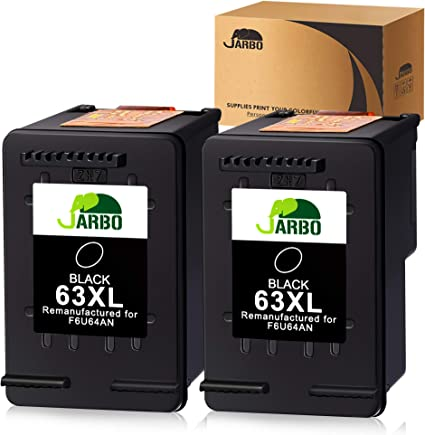 Amazon.com: Cartuchos de tinta JARBO recargables de HP 63XL ...