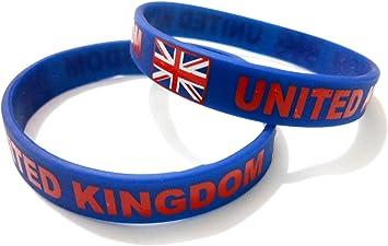 Unisex de bandera de pulsera de goma de silicona país mtong muñequera barrar United Kingdom / UK: Amazon.es: Deportes y aire libre