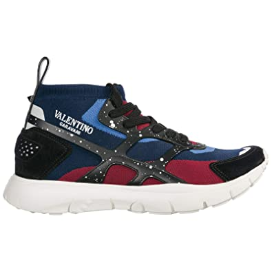 Valentino Sneakers Alte Sound High Uomo Blu: Amazon.it
