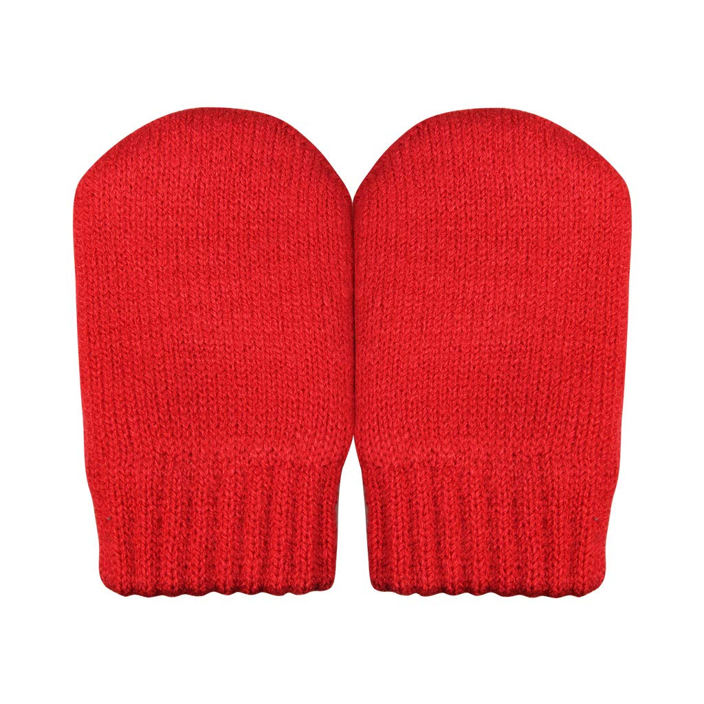 Baby thumbless winter knit mittens or kids boy girl winter knit mittens with thumb ORIENTPEARL USA