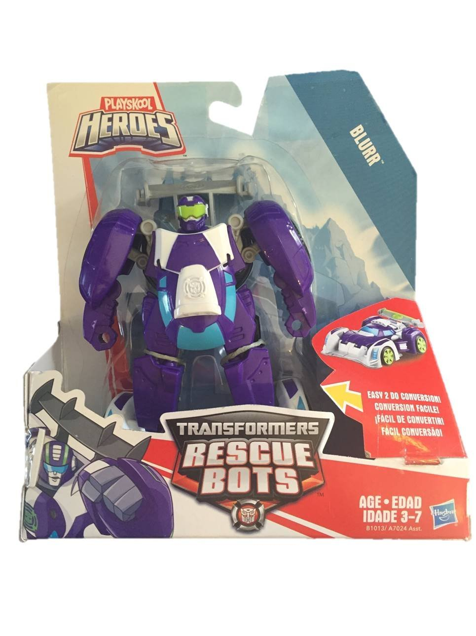 Playskool B1013 Heroes Transformers Rescue Bots Blurr Figure by Playskool (Image #4)