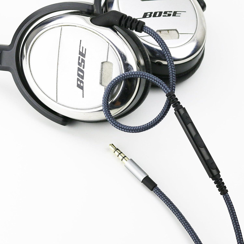 FeiYen Cable de repuesto para auriculares Bose QuietComfort 3//QC3 iPad Apple cables con mando a distancia de volumen y micr/ófono para iPhone
