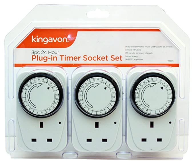 Kingavon BB-TS210 24 Hour Plug-in Timer Socket Set-Best-Popular-Product