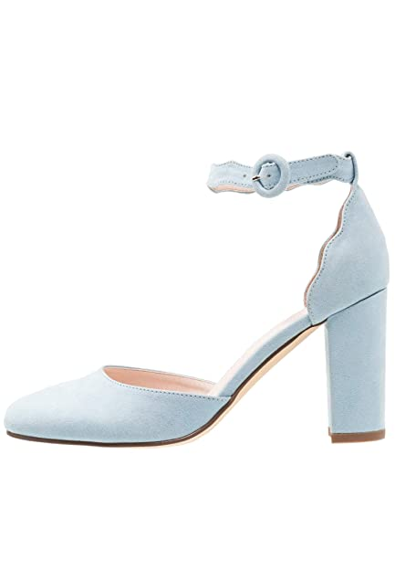 4b74a50ee103 Anna Field Chaussures Mary Jane à Talons - Escarpins Femmes Bord ondulé en  Bleu Clair
