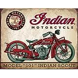 Indian Motorcycle Model 101 Indian Scout signe d'acier (de)