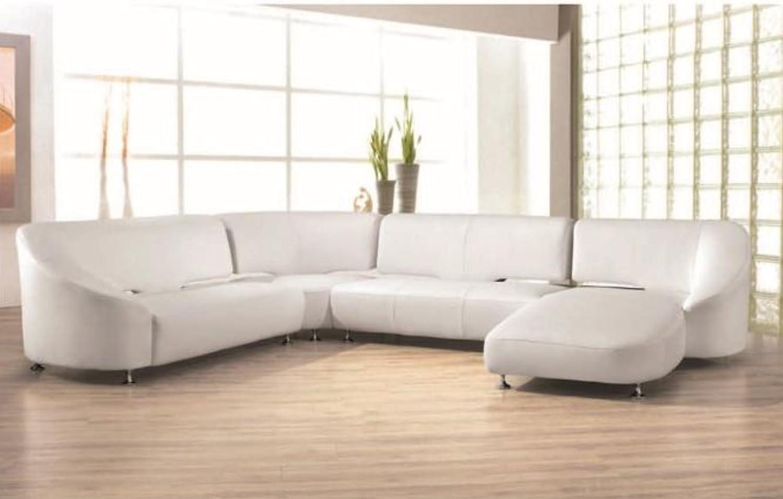 Amazon.com: Divani Casa - Modern Leather Sectional Sofa ...