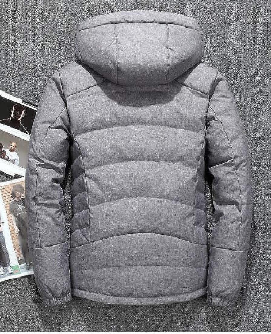 AngelSpace Mens Warm Outdoor Bodycon Winter Down Jacket Overcoat