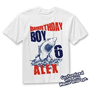 Shark birthday shirt, shark shirt, shark theme ocean theme, custom shark birthday with name and age