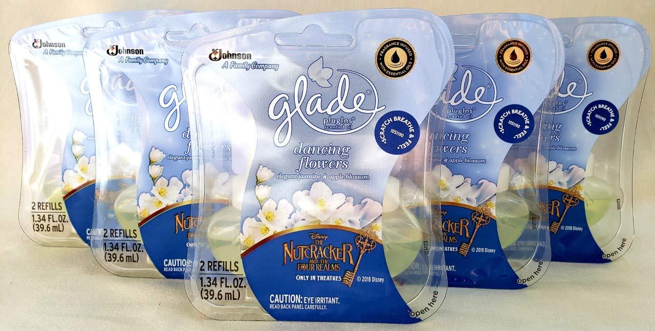 10 Glade Dancing Flowers Scented Oil PlugIns Refills Winter Disney Nutcracker 5 PACKS