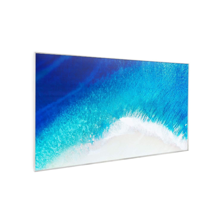 OpenWindow Detection KLARSTEIN Wonderwall Air Art 96 Chauffage Infrarouge Blanc ZeroNoise Infrared Thermostat pour Personnes allergiques 600W,Carbon Crystal Infrared IR ComfortHeat 101x81 cm