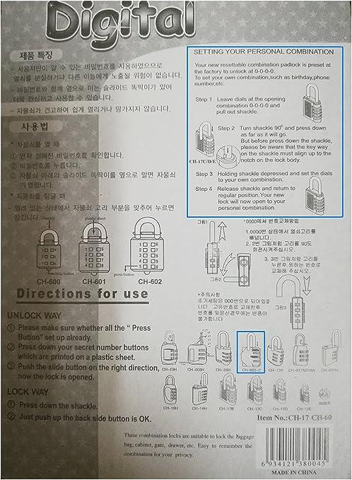 bo/îte /à outils HASP,cl/ôture ext/érieur abri de jardin DONJON,Serrure de combinaison /étui de rangement black cadenas de 3 chiffres pour l/école et le casier de gymnastique