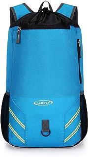 G4Free pieghevole con coulisse zaino palestra borsa sportiva leggera GYMSACK Racksack Swiming borsa per unisex adulti e bambini, TN0253A, Nero G4Free TN0253A