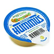 Veggicopia Dips, Original Hummus in 2.5oz Single Serving Cups (Pack of 12), No Refrigeration Required, Perfect for the Office or On the Go Snacking