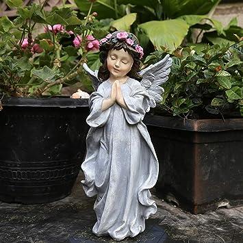 Querubín Hermoso Orando Decoración Al Aire Libre Decoración Del Jardín Europeo Escultura De Jardín Vintage Pequeña Hada -15 * 10 * 30 Cm Grey: Amazon.es: Bricolaje y herramientas