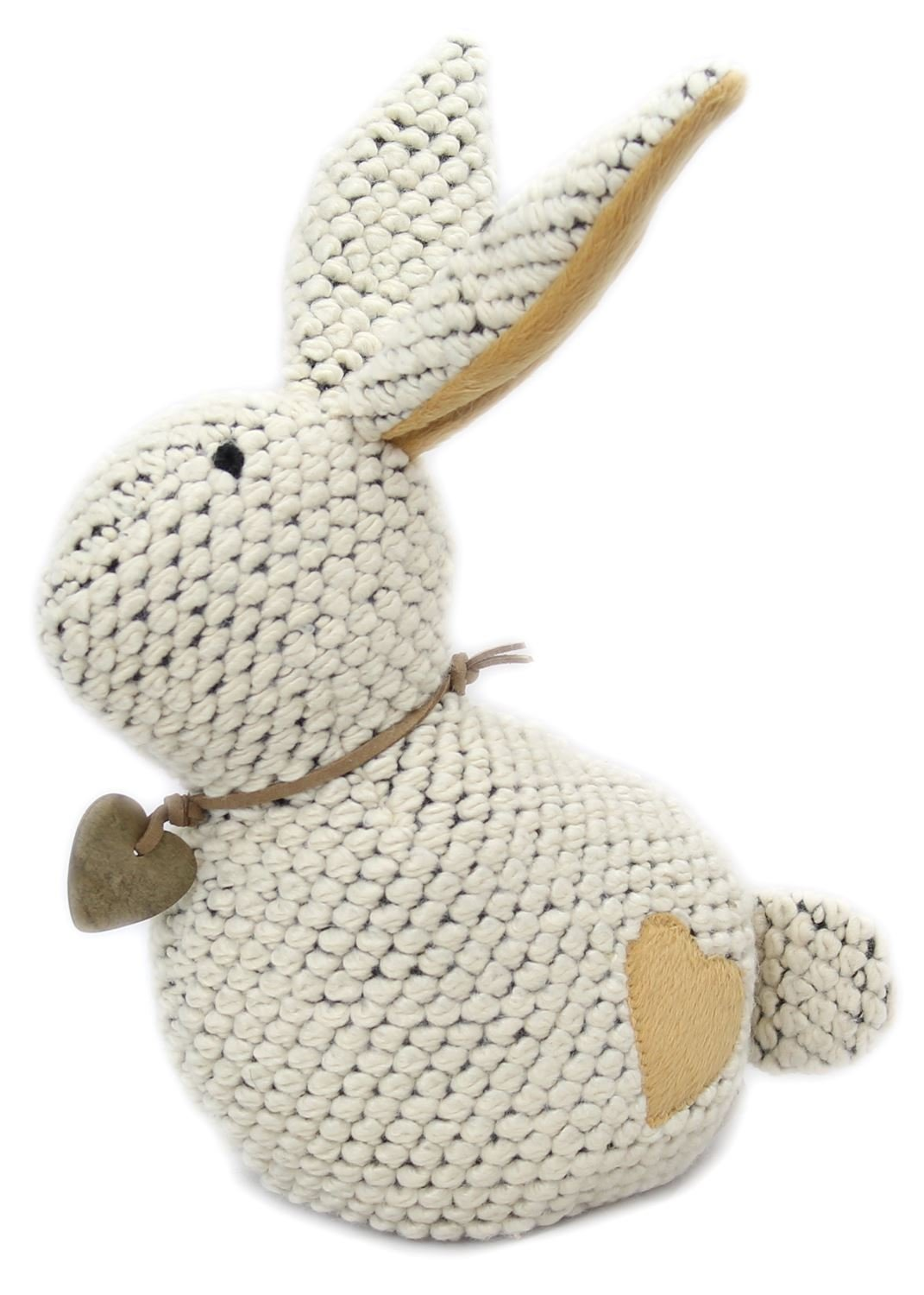 23cm Take Me Home Chunky Knitted Decorative Rabbit Doorstop ~ Cream Carousel Home